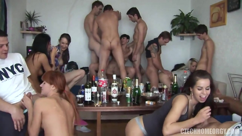 Great orgy: many girls and a lot of dicks