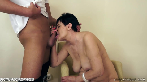Old slut on a young dick ride a libertine