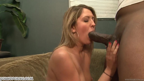Sex of a white beauty with a chocolate guy