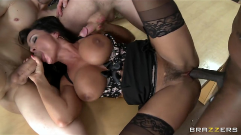 The males are lucky to have a great fuck with the incomparable Lisa Ann