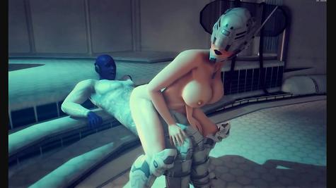 Порно мультфильм – грудастую трахает стремный мужик