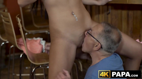Old man with young girl - great sex