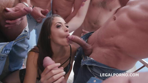 Guys group hard fuck one slut in all holes