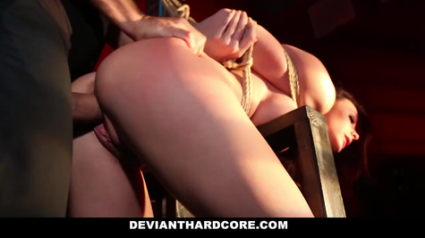 BDSM and fuck for hot busty mature