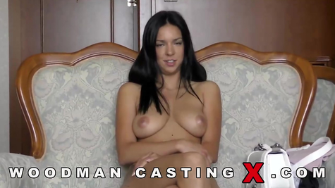 Busty Brunette Casting by Pierre Woodman