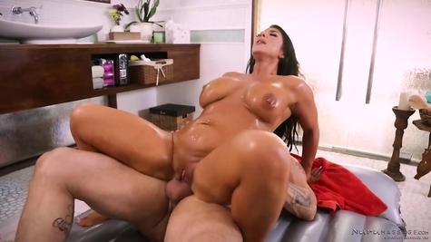 Oiled Mom Mature Big Cock Fucking Good