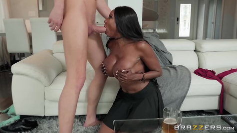 Ebony Fake Milf & Big Caliber White Dick