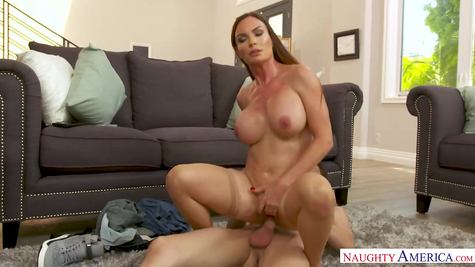 Mature and young, mom actively fucks dick