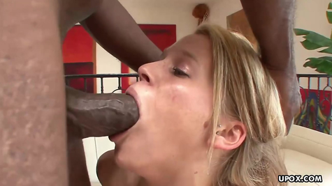 Negro in a white cute chick drives his huge penis
