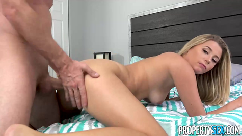 Punishes a cute bitch for masturbating with a big dick