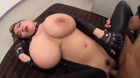 Asian chick with incredibly healthy tits