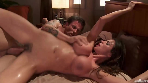 Busty bitch mom is pounded by a strong penis
