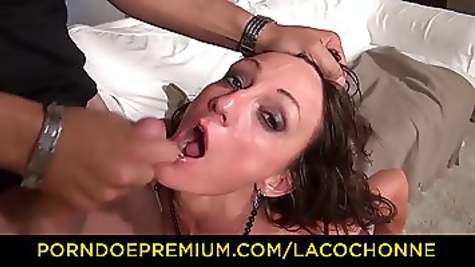 Powerfully fucks a chick in a rattan and pussy
