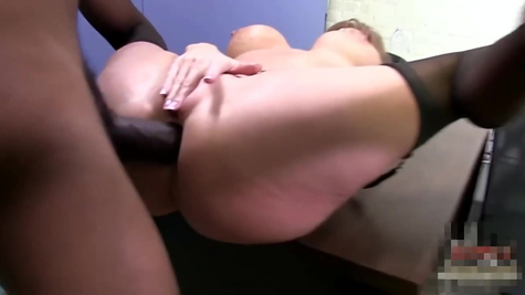 The negro drives a mature mom a black dick into the anal hole
