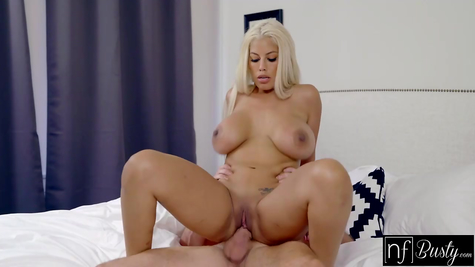 Very busty blonde loves to fuck and moan