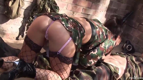 Military couple and their powerful sex