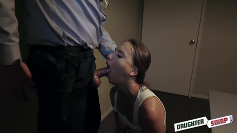 The police officer fucks the chick great, great fucking