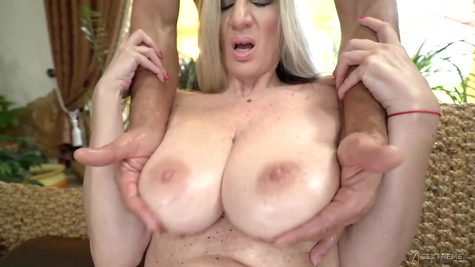 Milf with great tits fucks great