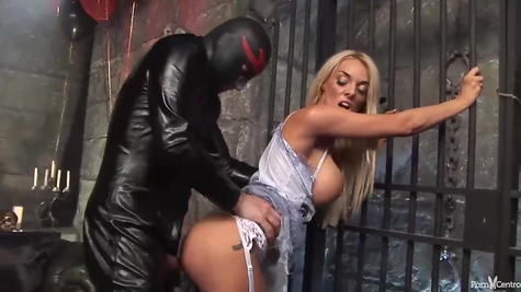 Gorgeous blonde and a healthy libertine penis