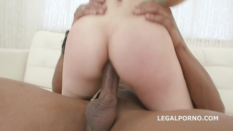Negro white slut tears in her mouth, pussy and anal entrance