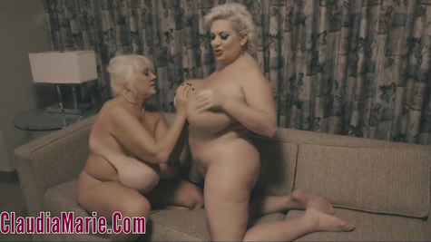 Chubby lesbian chicks with healthy tits