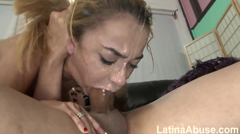Deepthroat, skin in throat and cunt