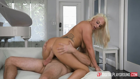 Blond hot chick slut