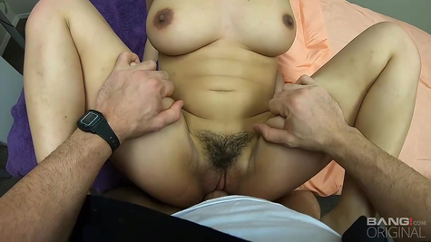 Big titted Asian chick cock