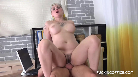 Dick in chubby busty whore