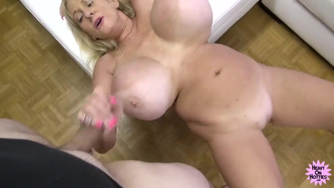 Chubby busty mature cock pounded