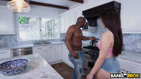 Negro white curvy punishes in the ass