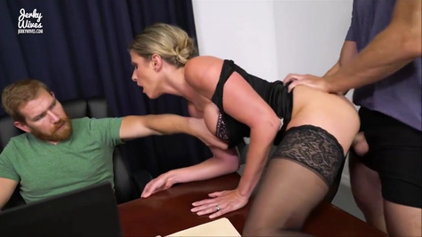Secretary Cory Chase is forced to become a whore in the office