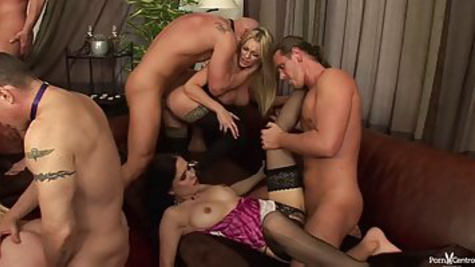 Depraved group sex with many guys and girls who do whatever they want