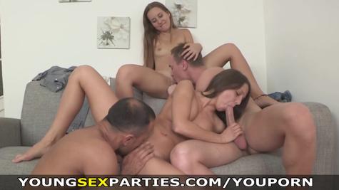 Russian libertines arranged a great hot group sex