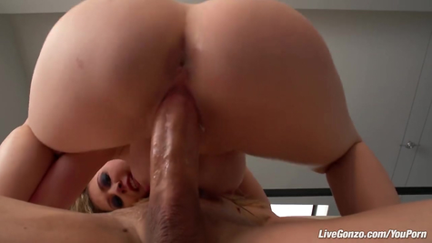 Sexy damsel powerfully rides a dick