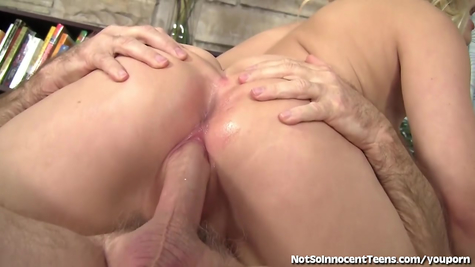 Fuck with the old: grandfather fucked a young slut