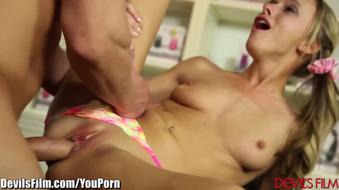 Bald willingly young girl in her mouth and pussy worked