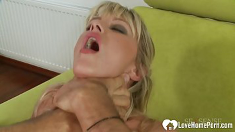 To cheer up a sad friend, an experienced woman gives him anal