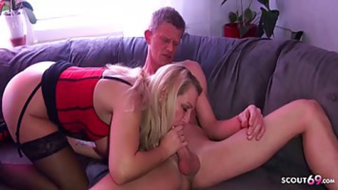 The dude gets a dick when a mature German woman with big breasts offers sex