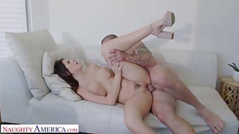 Beautiful MILF in a skirt demands to be pussy fucked by buddy