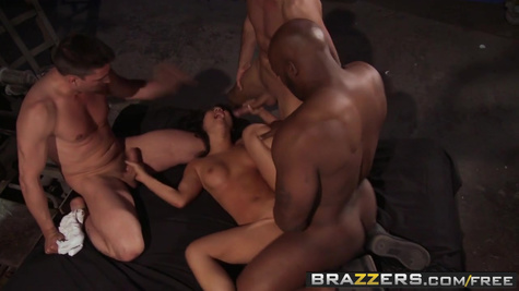 A mature Asian woman ended up in the basement and fucked three dorks