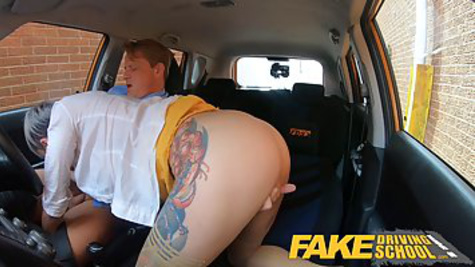 Tattooed lady gets rights by having sex with instructor