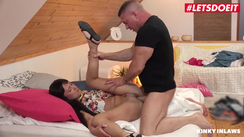 A man cheats on his wife and fucks her sister in a tight pussy in front of the camera