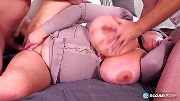 Group of women with big tits getting fucked Big Tits Foursome Scenes With Busty Fffm Action From Japan
