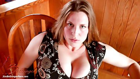 Busty mature woman sucks big cock in front of the camera and swallows sperm