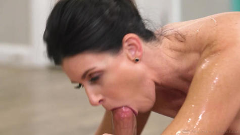 India Summer is using an opportunity and fucks with mature man in front of the camera