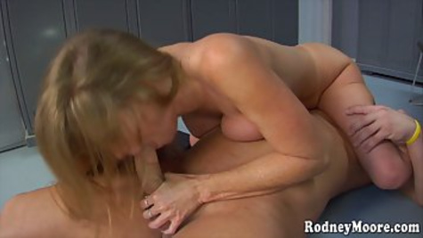 Darla Crane is a busty mature woman who likes to suck dicks even while in the gym