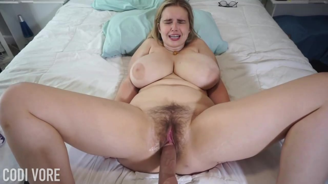 Granny with big tits and hairy pussy fucks a dildo Fat Blonde Woman With Big Boobs And Hairy Pussy Is Getting Hardcore Sex In The Bed With Her Husband