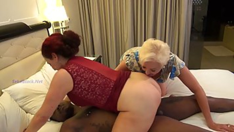 Plump matures had an interracial threesome the other day with a guy they have just met