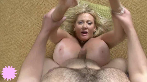 Insatiable blonde milf with massive milk jugs is getting hammered and enjoying every second of it